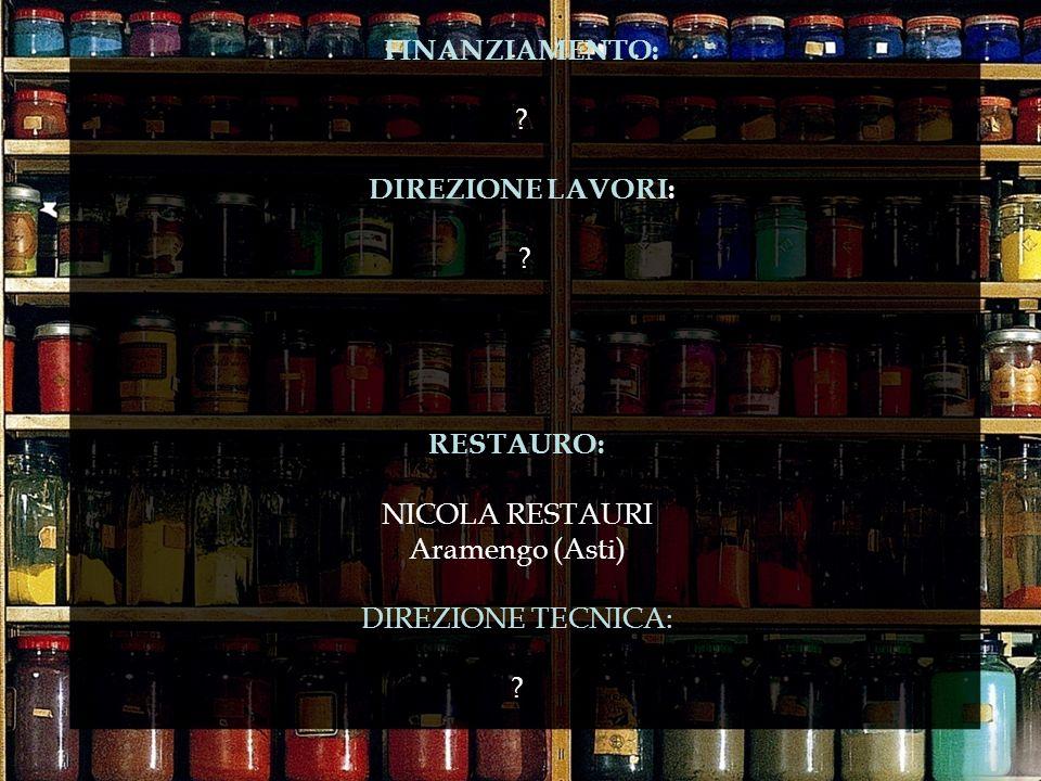 DIREZIONE LAVORI: RESTAURO: NICOLA RESTAURI Aramengo (Asti)
