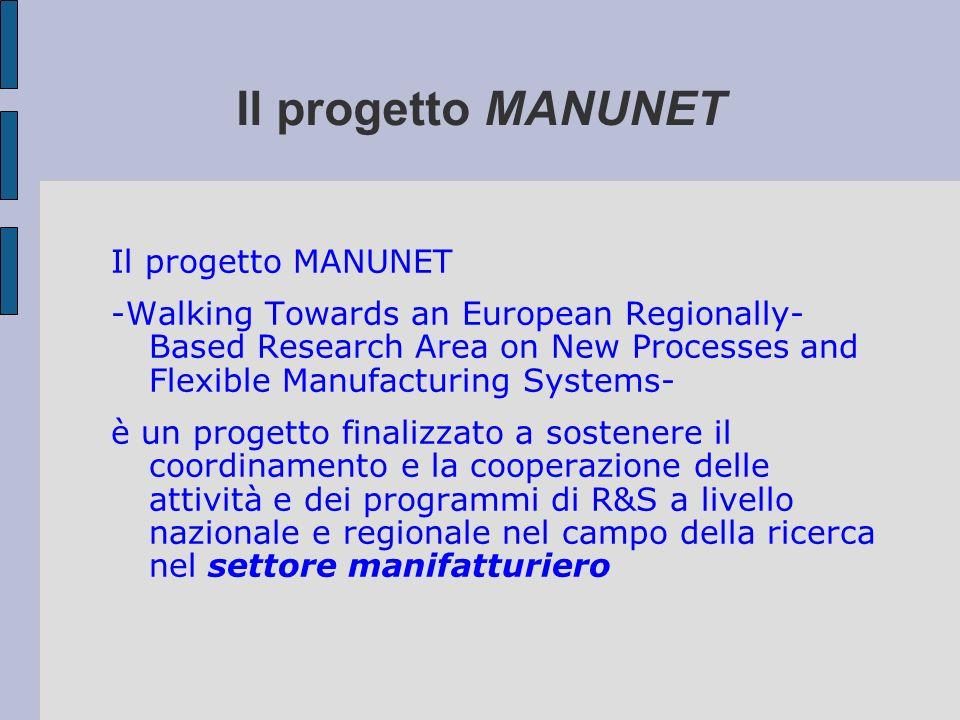Il progetto MANUNET Il progetto MANUNET