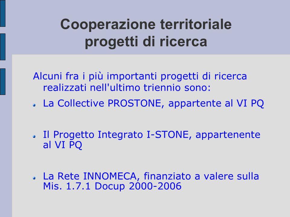 Cooperazione territoriale progetti di ricerca