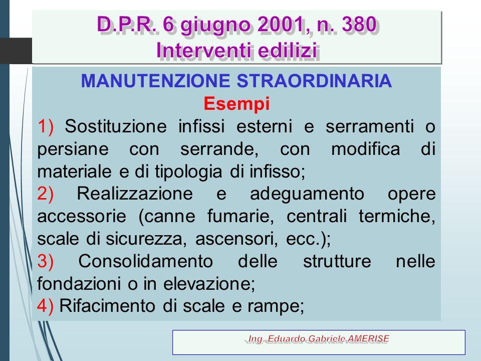 MANUTENZIONE STRAORDINARIA
