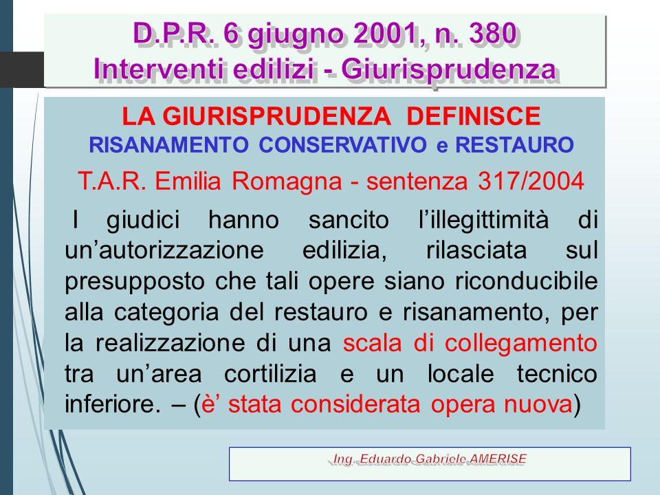 D.P.R. 6 giugno 2001, n. 380 Interventi edilizi - Giurisprudenza