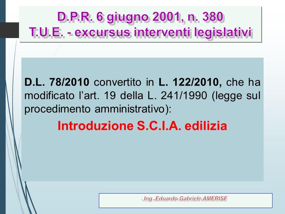 D.P.R. 6 giugno 2001, n. 380 T.U.E. - excursus interventi legislativi