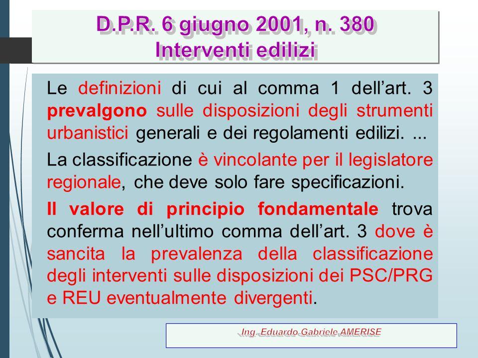 D.P.R. 6 giugno 2001, n. 380 Interventi edilizi