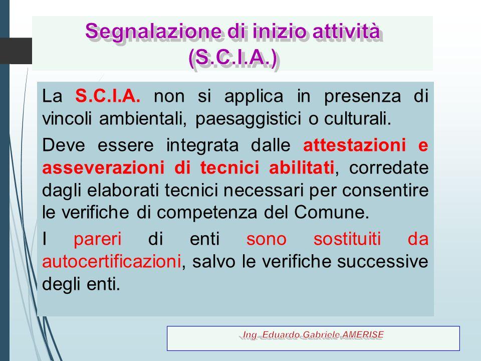 Segnalazione di inizio attività (S.C.I.A.)