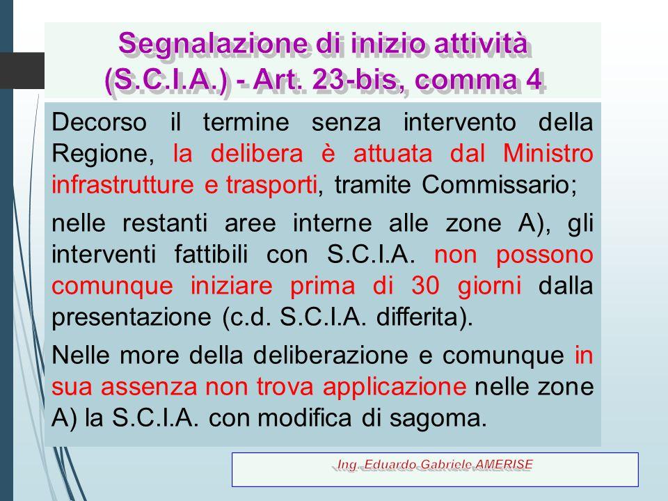 Segnalazione di inizio attività (S.C.I.A.) - Art. 23-bis, comma 4