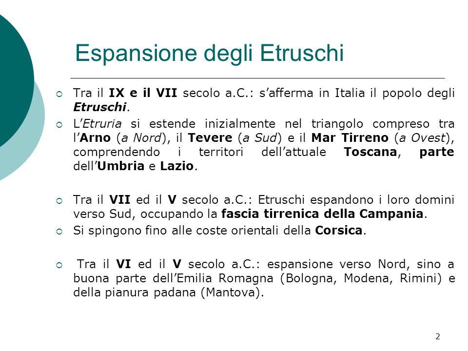 Espansione degli Etruschi