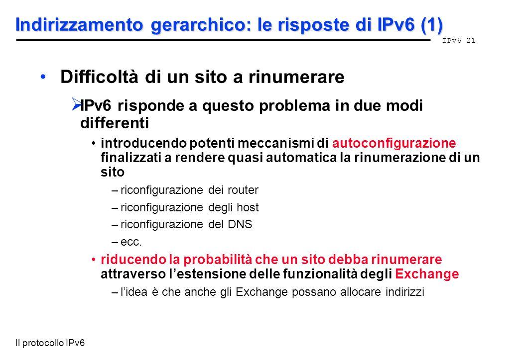 Indirizzamento gerarchico: le risposte di IPv6 (1)