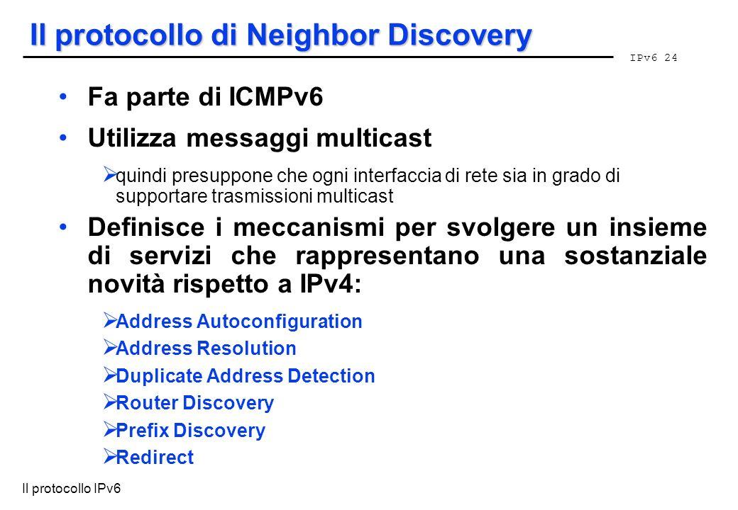 Il protocollo di Neighbor Discovery