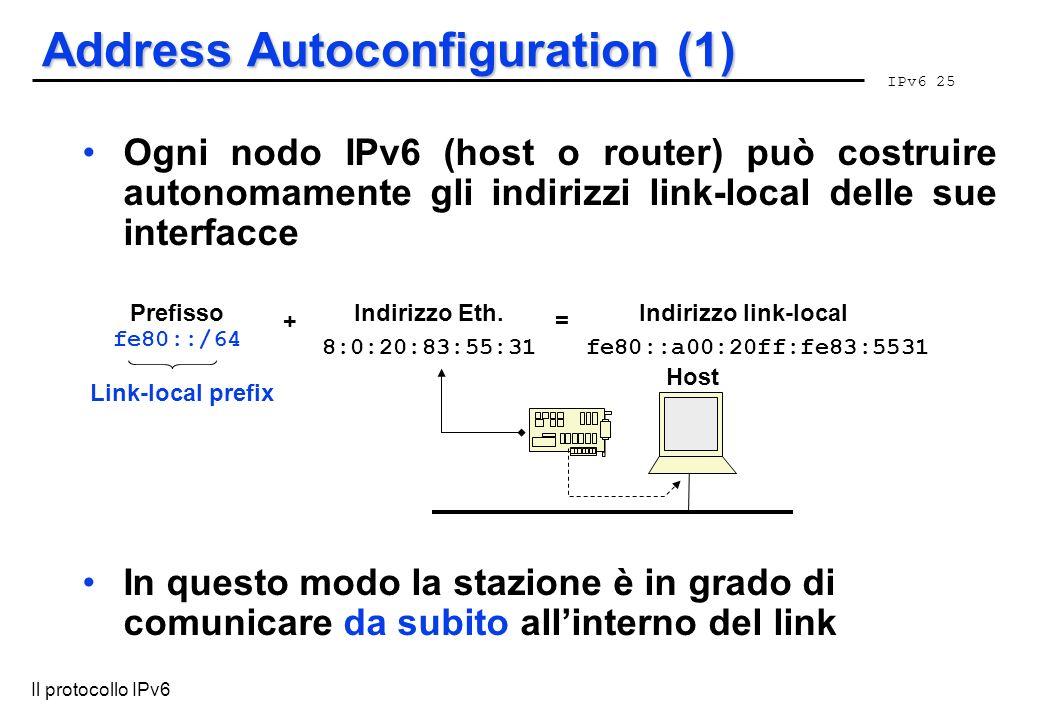 Address Autoconfiguration (1)