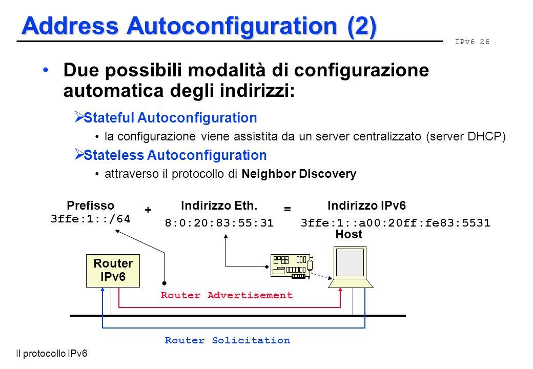 Address Autoconfiguration (2)