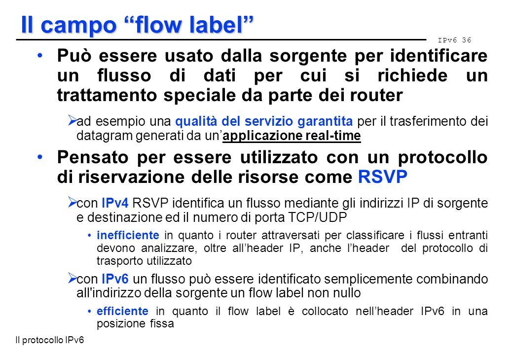 Il campo flow label