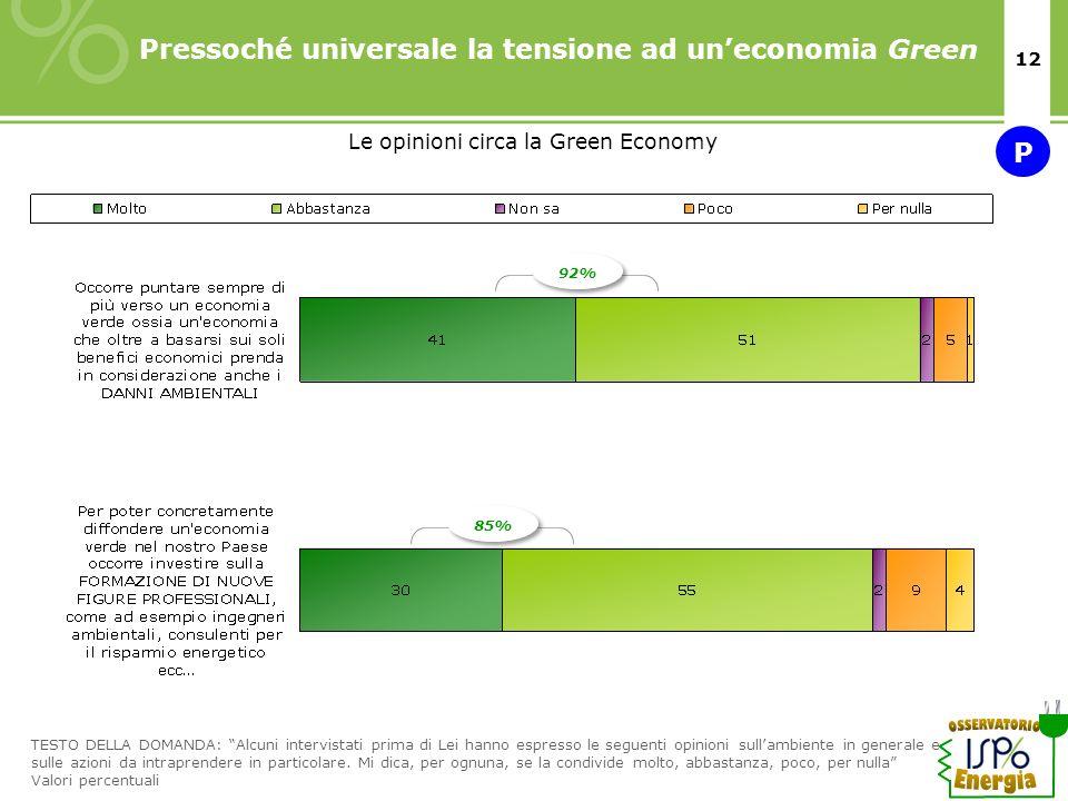Le opinioni circa la Green Economy