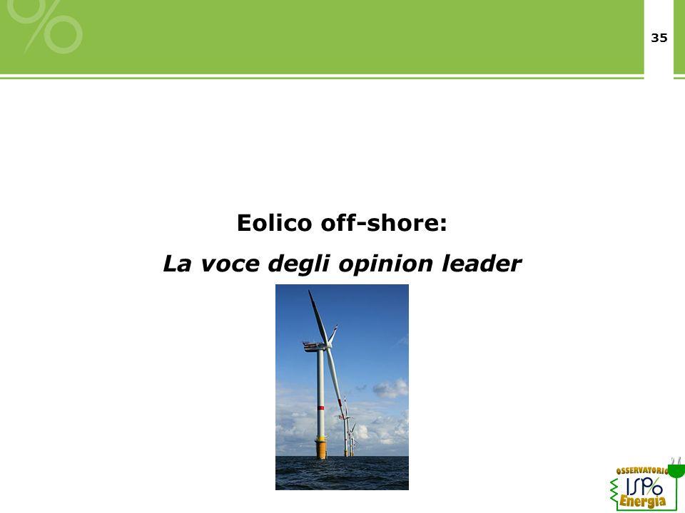 La voce degli opinion leader