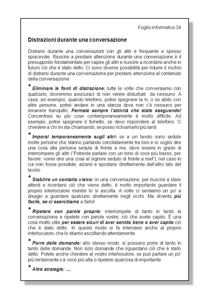 foglio informativo 1 sintesi dei contenuti terapeutici e
