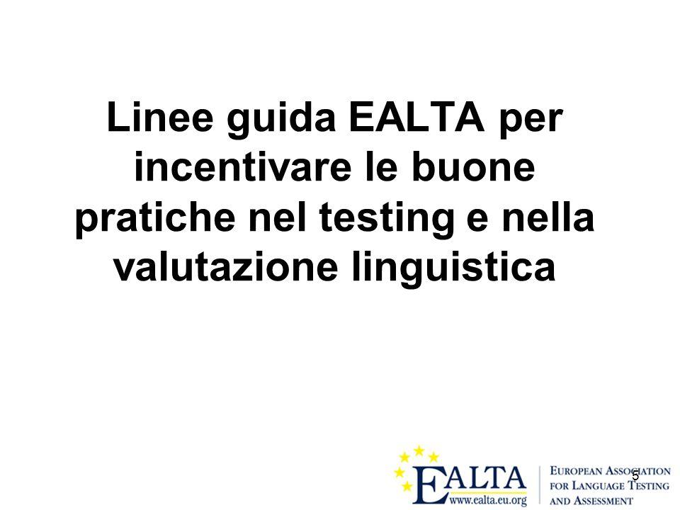 Linee guida EALTA per incentivare le buone pratiche nel testing e nella valutazione linguistica