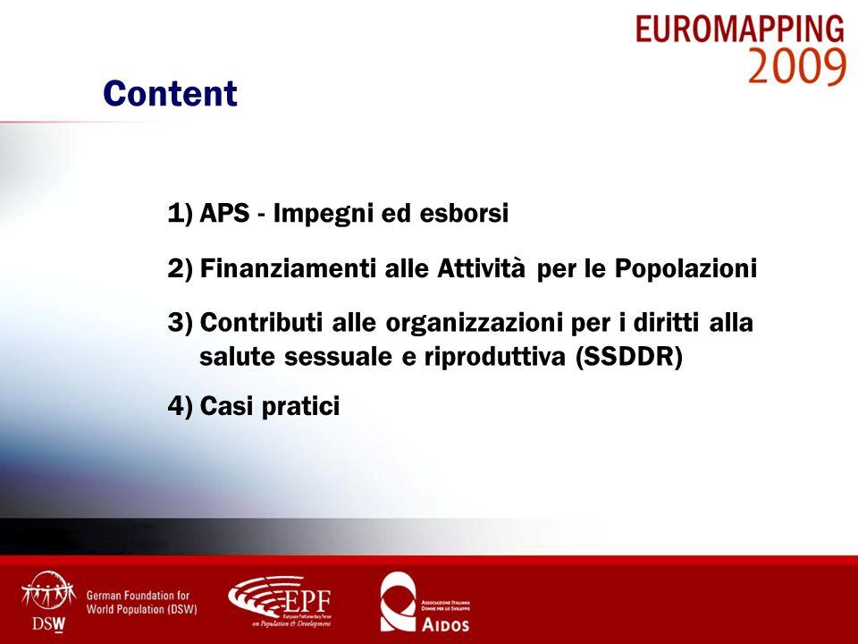 Content 1) APS - Impegni ed esborsi