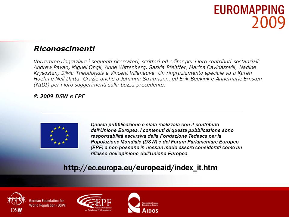 http://ec.europa.eu/europeaid/index_it.htm Riconoscimenti