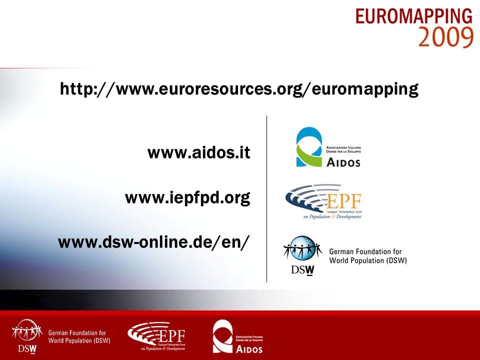 http://www.euroresources.org/euromapping www.aidos.it www.iepfpd.org www.dsw-online.de/en/