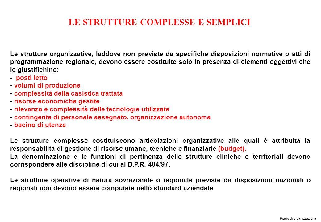 LE STRUTTURE COMPLESSE E SEMPLICI