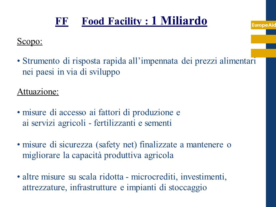 FF Food Facility : 1 Miliardo