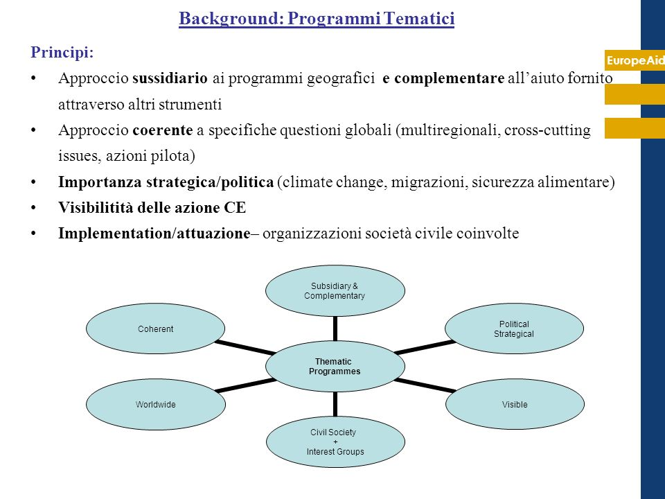 Background: Programmi Tematici