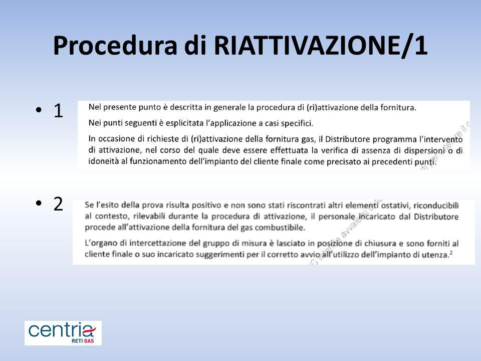 Procedura di RIATTIVAZIONE/1