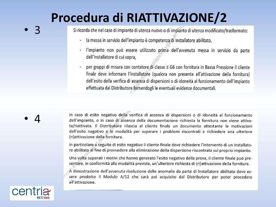 Procedura di RIATTIVAZIONE/2