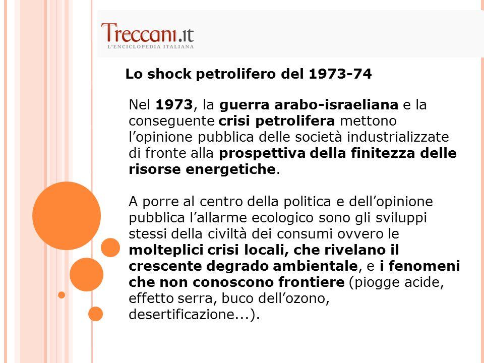 Lo shock petrolifero del 1973-74