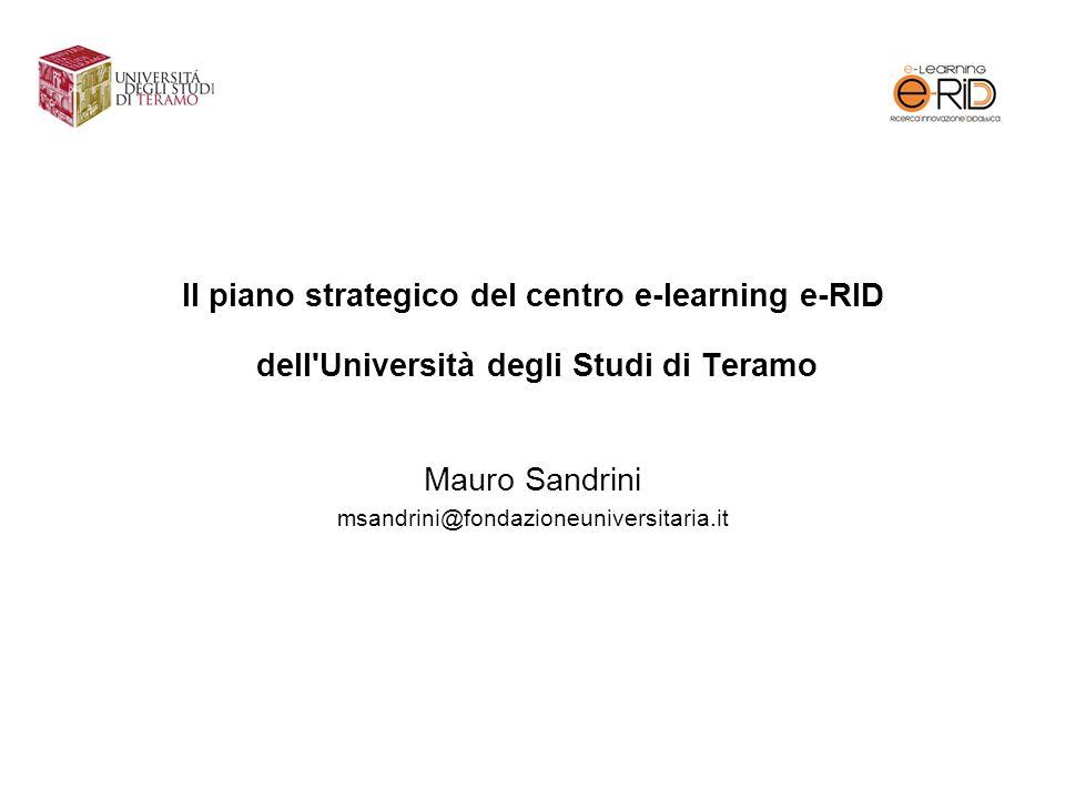 Mauro Sandrini msandrini@fondazioneuniversitaria.it