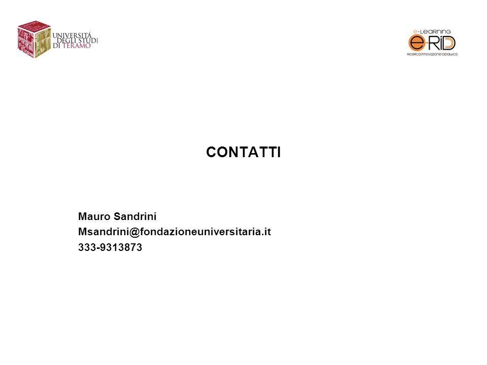 Mauro Sandrini Msandrini@fondazioneuniversitaria.it 333-9313873