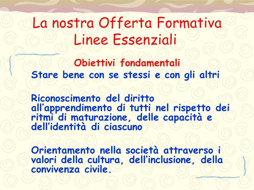 La nostra Offerta Formativa Linee Essenziali