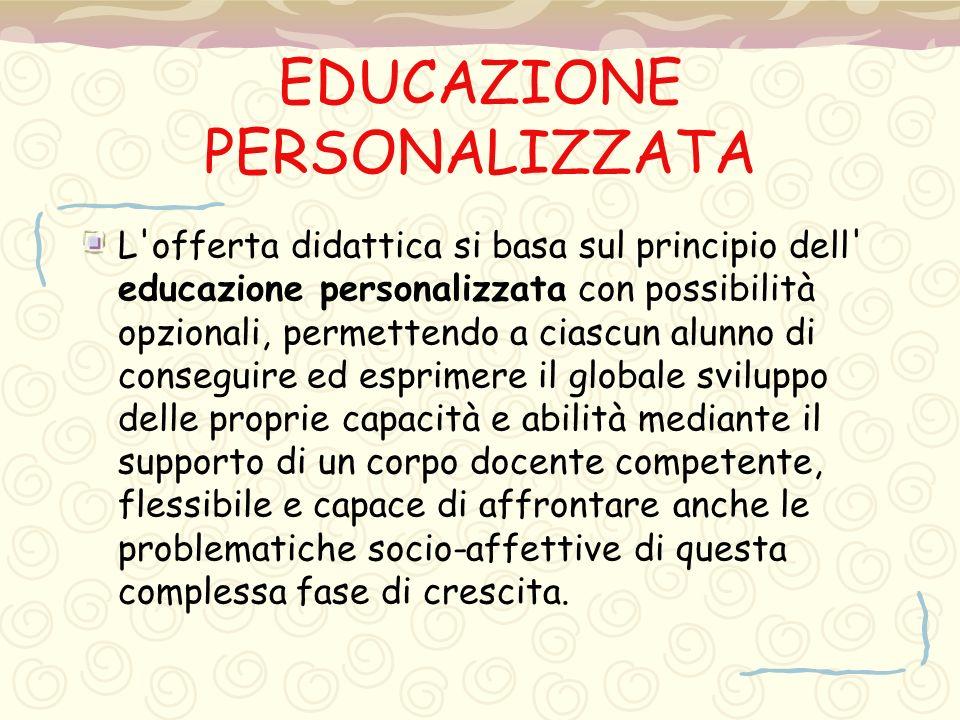 EDUCAZIONE PERSONALIZZATA