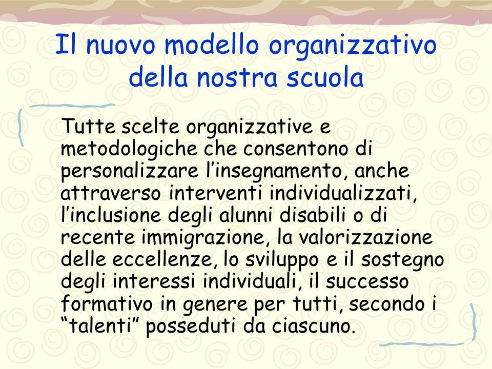 Il nuovo modello organizzativo della nostra scuola