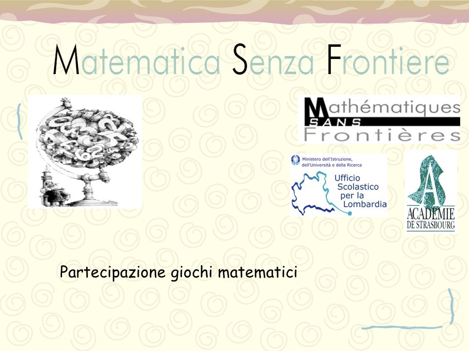 Partecipazione giochi matematici