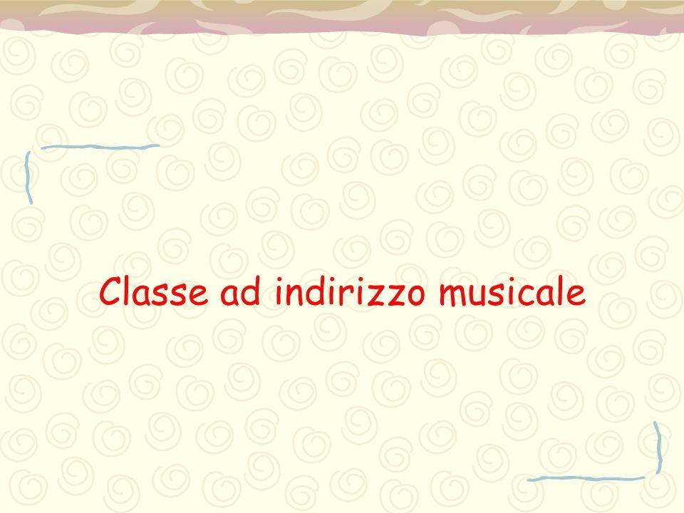 Classe ad indirizzo musicale