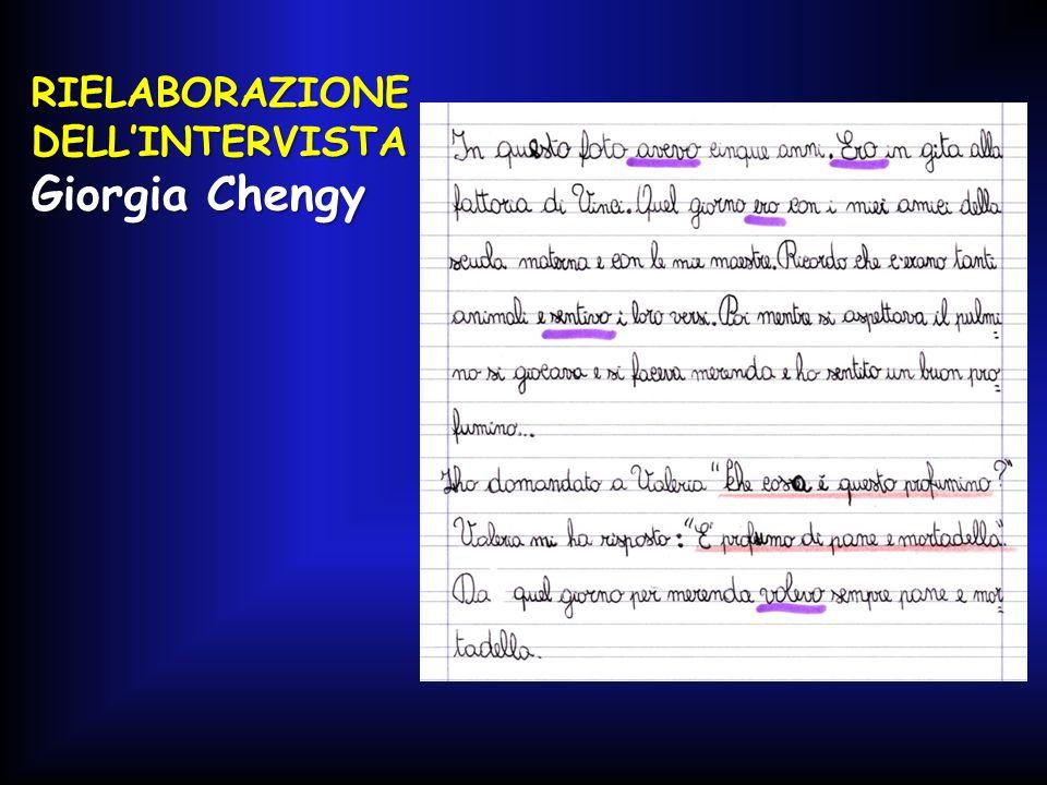 RIELABORAZIONE DELL'INTERVISTA