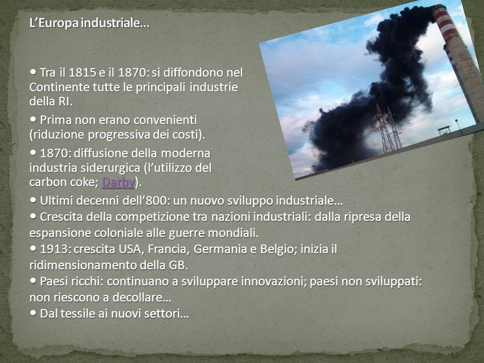 L'Europa industriale…