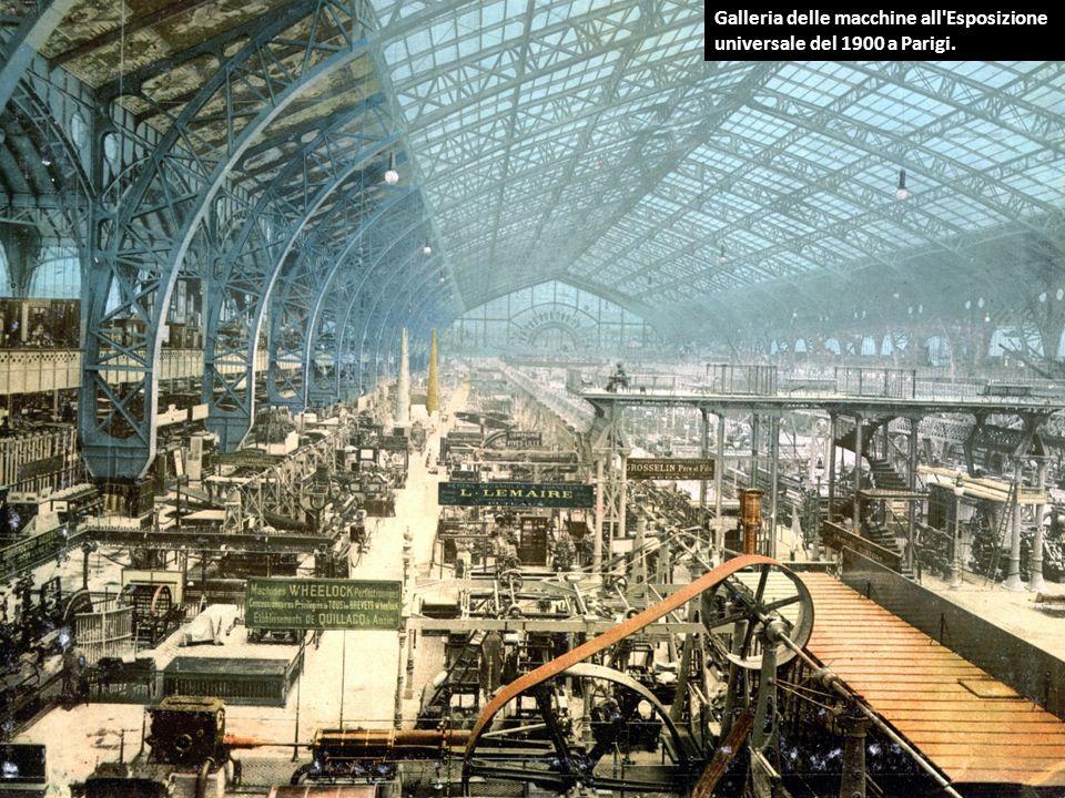Galleria delle macchine all Esposizione universale del 1900 a Parigi.