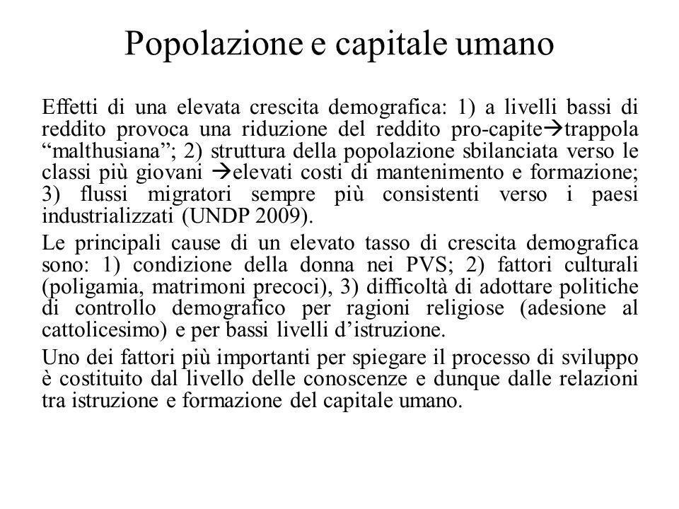 Popolazione e capitale umano