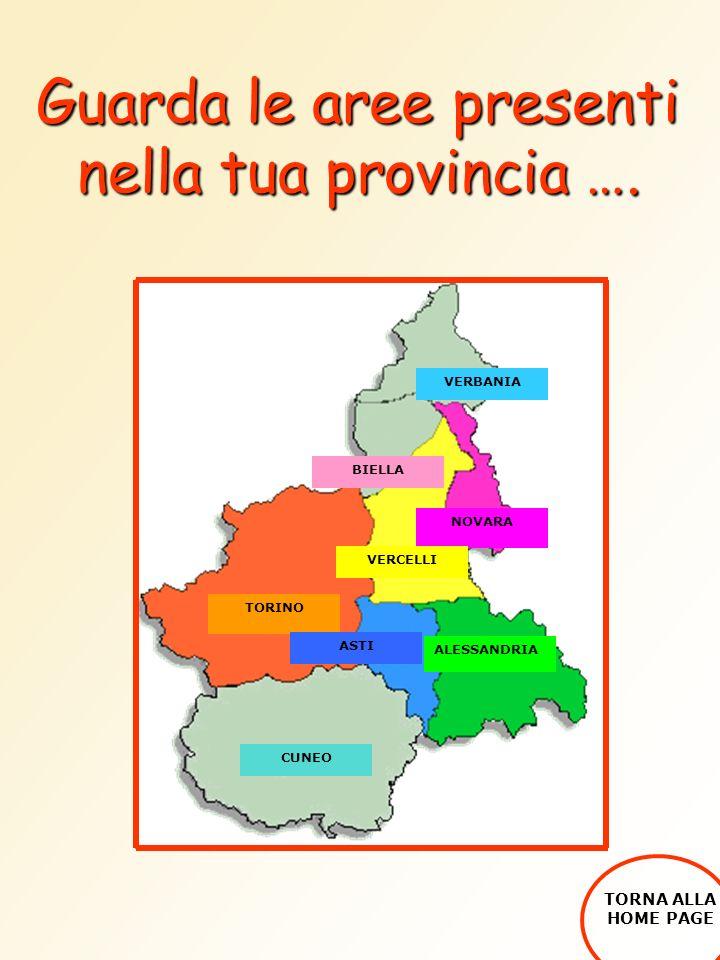 Guarda le aree presenti nella tua provincia ….