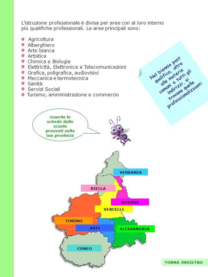 Guarda le schede delle scuole presenti nella tua provincia
