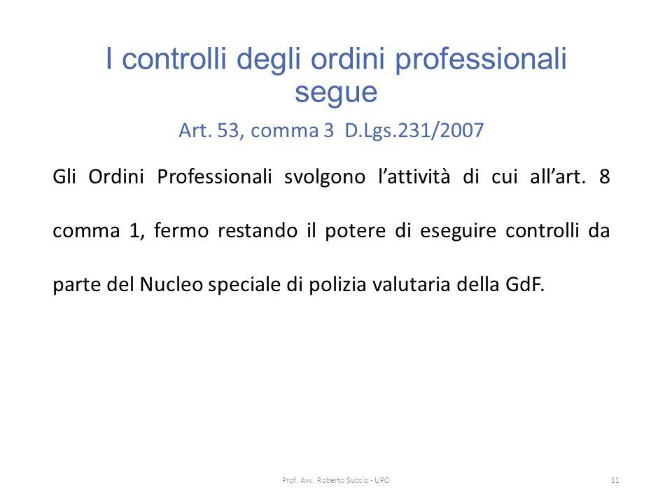 I controlli degli ordini professionali segue