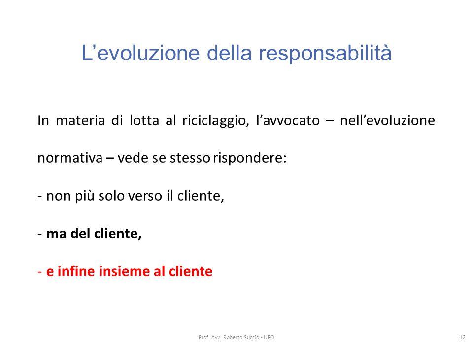 L'evoluzione della responsabilità