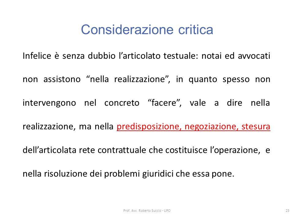 Considerazione critica