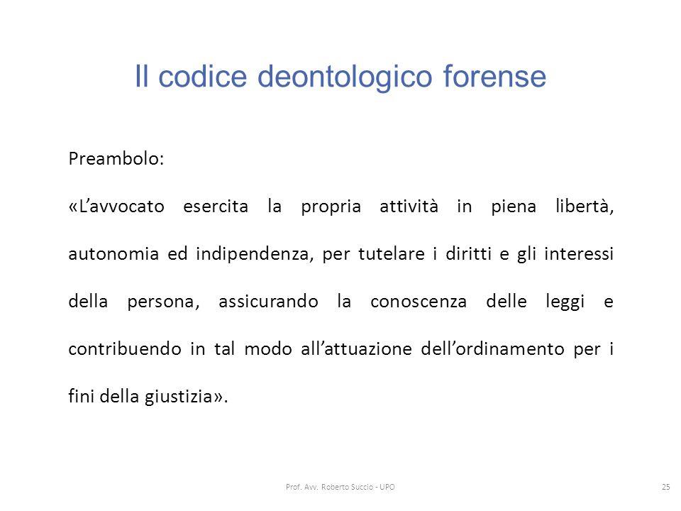 Il codice deontologico forense