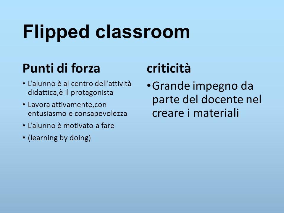 Flipped classroom Punti di forza criticità