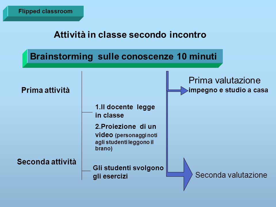 Attività in classe secondo incontro