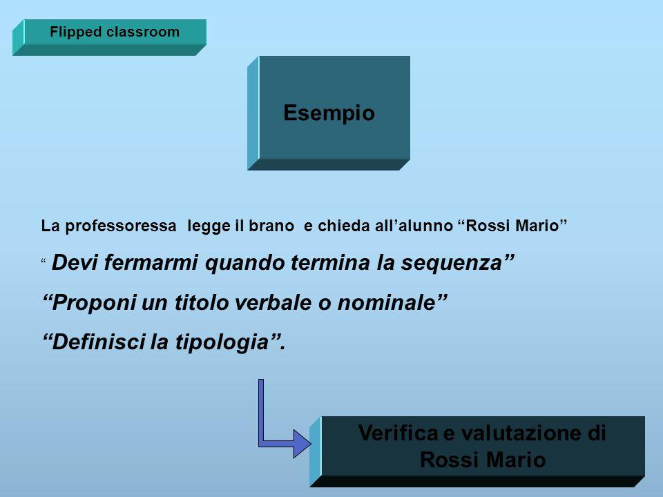 Verifica e valutazione di Rossi Mario