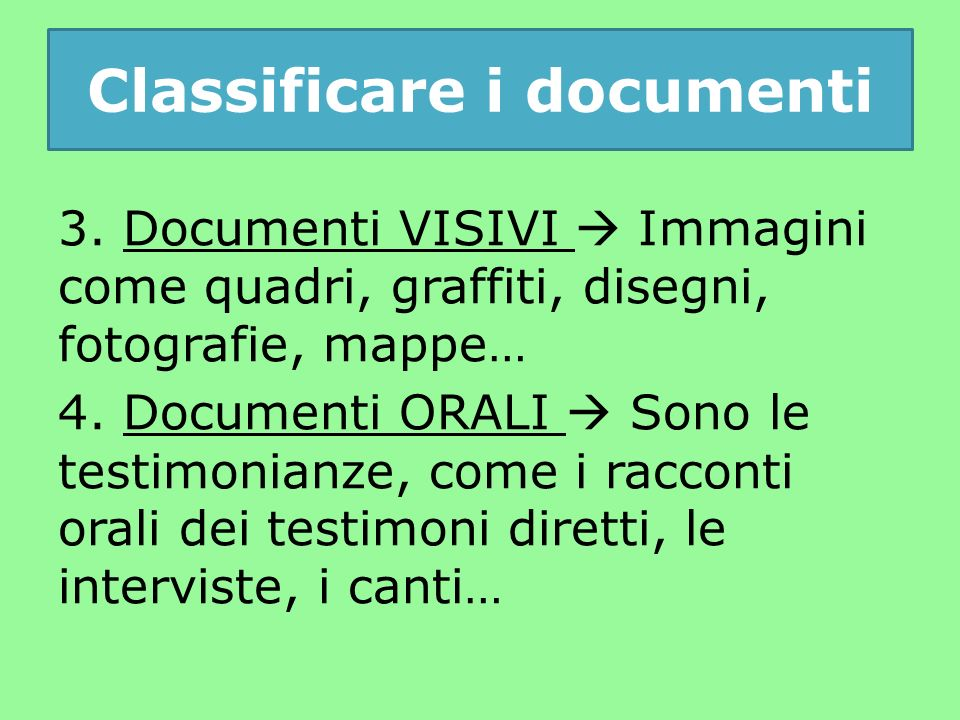 Classificare i documenti