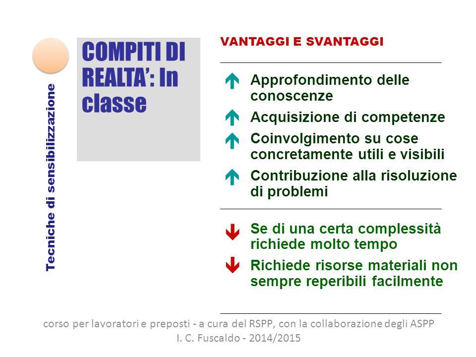 COMPITI DI REALTA': In classe